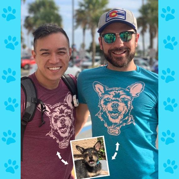 Dog Portrait Tee, Custom Pet Portrait Tee, Dog Lover Gift, Dog Mom Shirt, Cat Lover Gift, Custom Dog Shirt, Dog on Shirt, Cat on Shirt