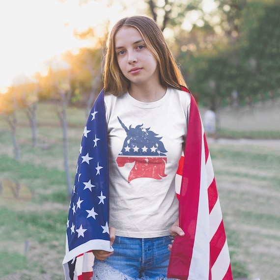Fourth of July Unicorn Shirt, Patriotic Unicorn Shirt, America Unicorn Shirt, Independence Day Shirt, Red White and Blue Shirt, Unicorn Face
