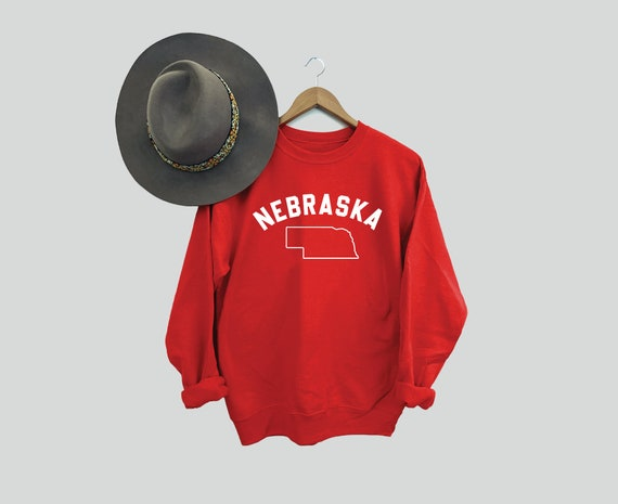 Nebraska Red Sweatshirt, Midwest is Best, The Good Life, College Football Sweatshirts, Nebraska Crewneck, Game Day, Corn Fed Sweatshirt