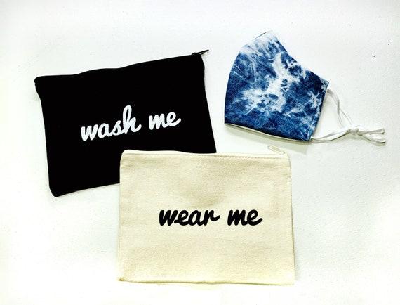 Mask Bag Set, Wear Me and Wash Me Mask Bag, Face Mask Bag, Clean and Dirty Mask Bag, Mask, Face Mask Storage, Mask Bag for Kid, Bag for Mask