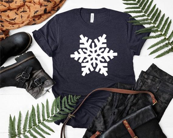 Snowflake Shirt, Silver Christmas Shirt, Womens Christmas Shirt, Christmas Party Shirt, Cute Winter Shirt, Holiday Shirt, Family Christmas