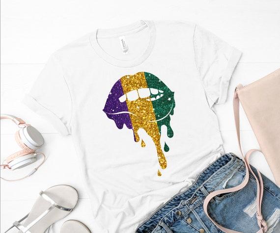 Mardi Gras Shirt | Mardi Gras T-shirt | NOLA Shirt | New Orleans Shirt | NOLA Tee | Mardi Gras Glitter Tee | NOLA Glitter Shirt | Womens Tee