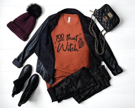 100% That Witch | Witchy Shirt | Claws Out Witches Tee | That Witch T-shirt | Cute Fall Shirts | Halloween Shirt | Cute Halloween Shirts