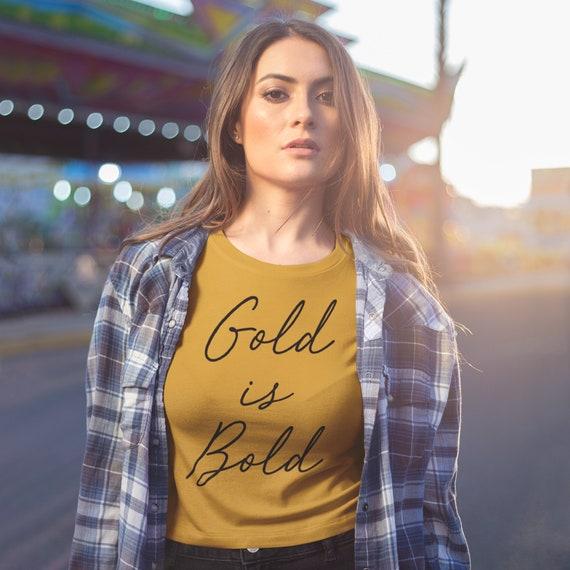 Be Bold Wear Gold T-shirt   Gold Iowa Tee   Iowa Strong Shirt   Gold is Bold Iowa Tee   Black and Gold  Crop Top   Iowa is Home T-shirt