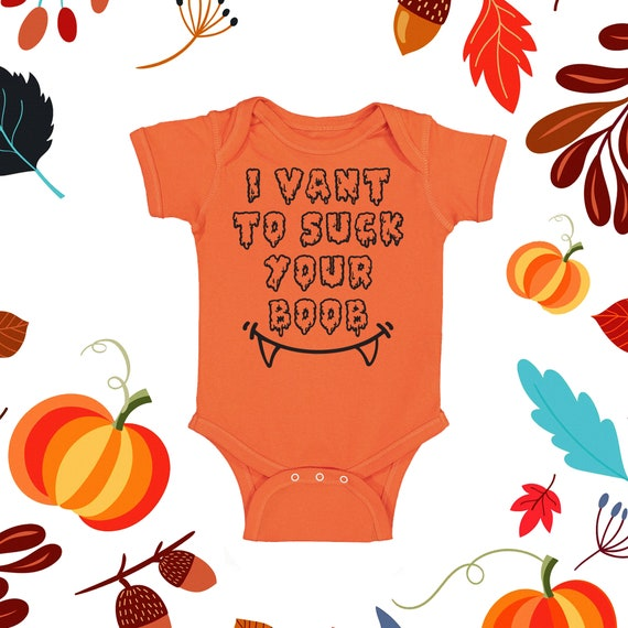 I Vant to Suck your Boob | Newborn Halloween | Baby Girl Halloween | Baby Boy Halloween | Baby Costume | Baby Halloween Outfit | Funny Baby