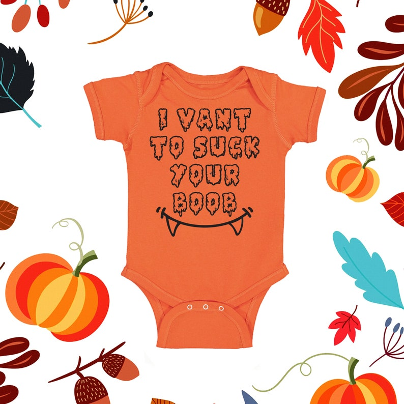 Funny Baby I Vant to Suck your Boob Baby Costume Baby Halloween Outfit Baby Girl Halloween Newborn Halloween Baby Boy Halloween