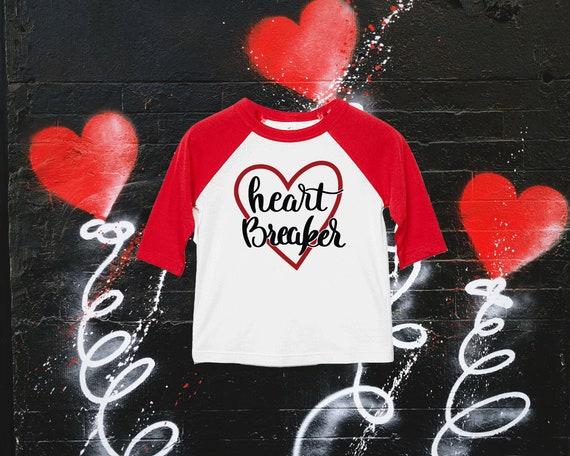 Valentines Day Shirt For Kid   Kid's Valentines Day Shirt   Valentines Day Shirt for Girl   Cute Valentines Day Tee   Heart Breaker Raglan