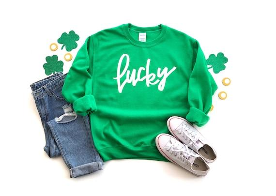 Irish Luck Sweatshirt   Funny St Patrick   St Patricks Day Sweatshirt   St. Paddy's Day Sweatshirt   Womens St. Patrick's Day   Green Shirt