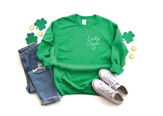 Lucky Charm Sweatshirt, St Patricks Day Sweatshirt, Shamrock Sweatshirt, Oversized Lucky Sweatshirt, Saint Patricks Day Shirt, Lucky Sweat