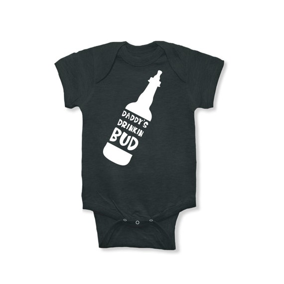 Daddy's Drinking Buddy | Funny Baby Boy Clothes | Baby Boy Bodysuit | Home Brewed Baby | Gift for New Dad | Gift Dad and Beer Drinking