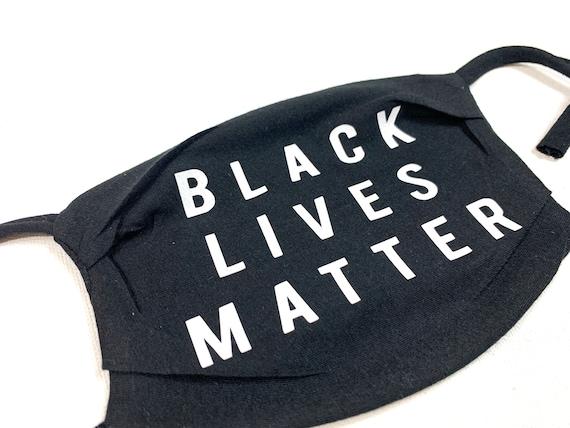 Black Lives Matter Face Mask | Washable Face Mask | Cotton Face Mask | Adjustable Mask | BLM Mask | Adult Mask 100% Cotton Masks