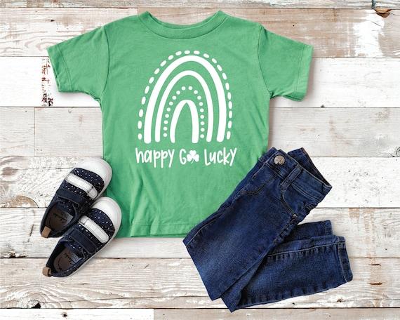 Happy Go Lucky Toddler, Kids St Patricks day shirt, Toddler St Patricks day shirt, St. Patricks Day Shirts for Girls, Charmer Shirt For Kids