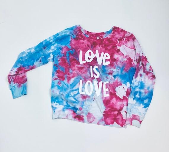 Pride Shirt, Gay Pride Shirt, Gay Pride Long Sleeve Shirt, Tie Dye Ice Dye Shirt, Love is Love Shirt, LGBTQ Shirt, Bi Pride, Pride Month Tee