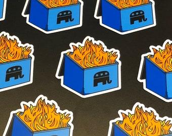 GOP Dumpster Fire Sticker