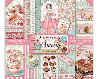 Paper Collection Pattern Paper NEW Stamperia Threads Romantic Collection 12x12 Paper Pad Mixed Media Scrapbook Paper Paper Kit