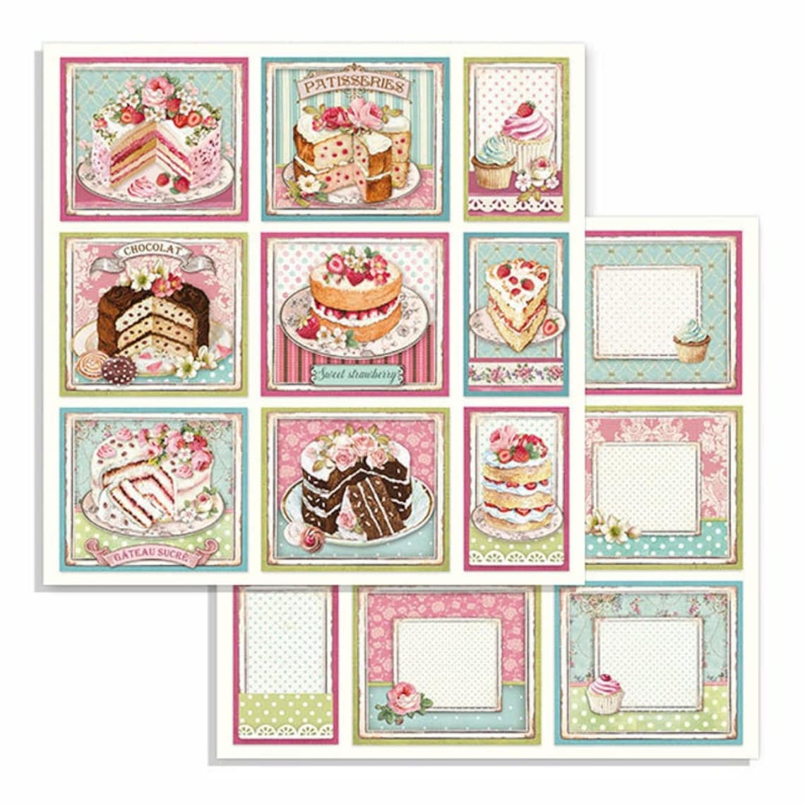 NEW Stamperia Sweety 12x12 Paper Pad Paper Kit Paper image 7