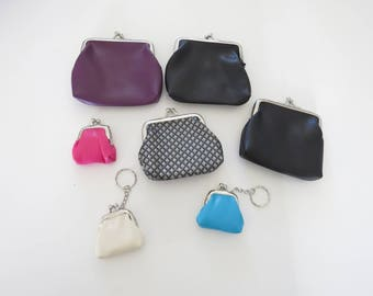 lot wallet purse faux leather sewing pouch to decorate