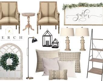 Interior Design, EDesign, Interior Decorating, Moodboard, Dining Room