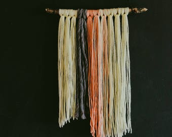 Peaches and Cream // Wool Wall Hanging
