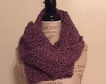 Hooded Purple Scarf