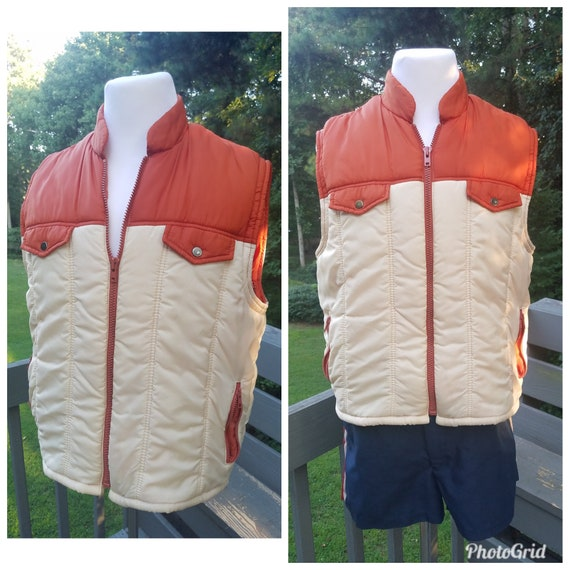 1980s puffer vest vintage campus pro action ski ve