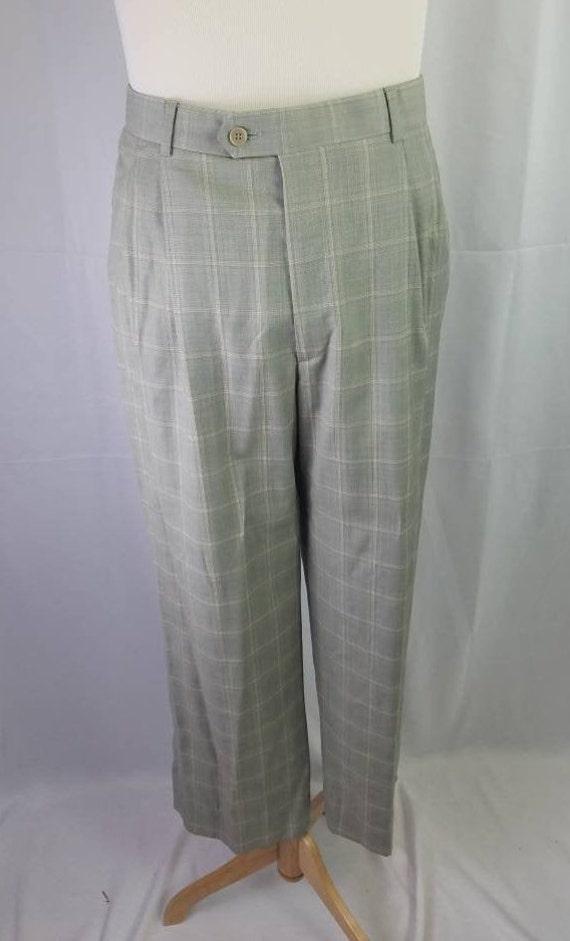 1990s pants Zignone plaid vintage 90s Italian woo… - image 7