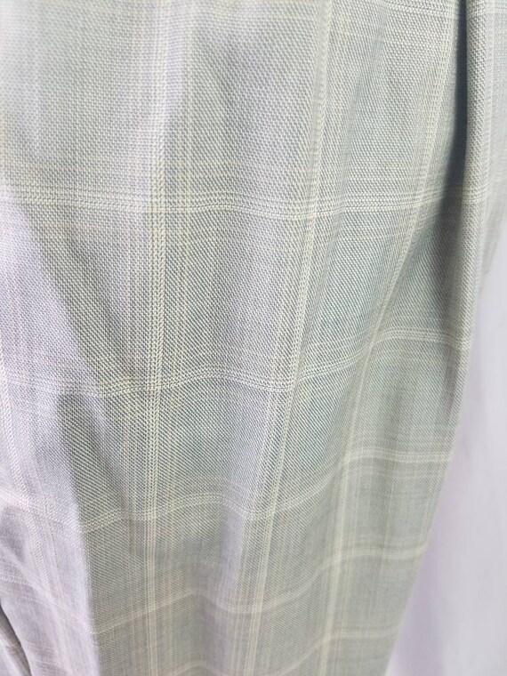 1990s pants Zignone plaid vintage 90s Italian woo… - image 4