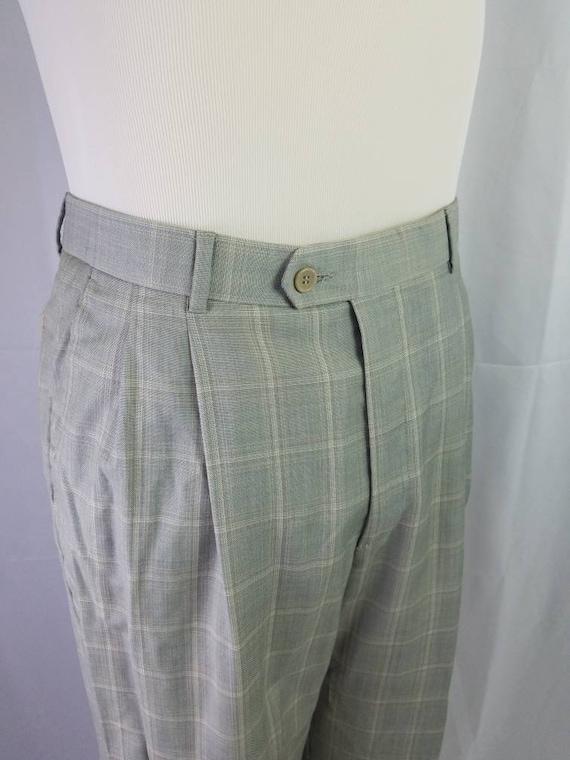 1990s pants Zignone plaid vintage 90s Italian woo… - image 3