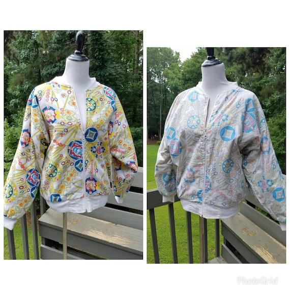 1980s reversible jacket vintage bomber jacket