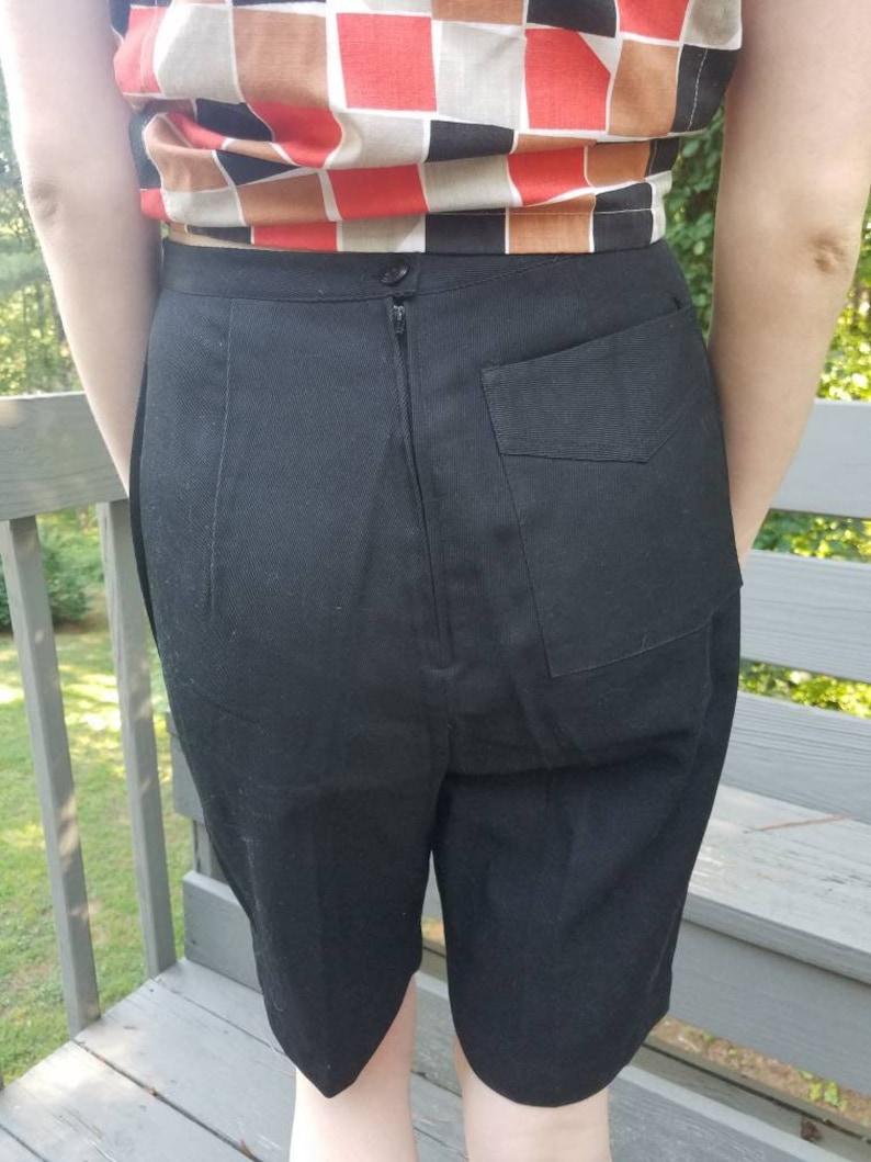 Vintage black shorts 60s Catalina Sportswear high waisted  Bermuda shorts