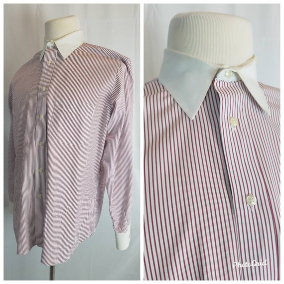 1990s pin striped shirt vintage 90s does 20s maroo