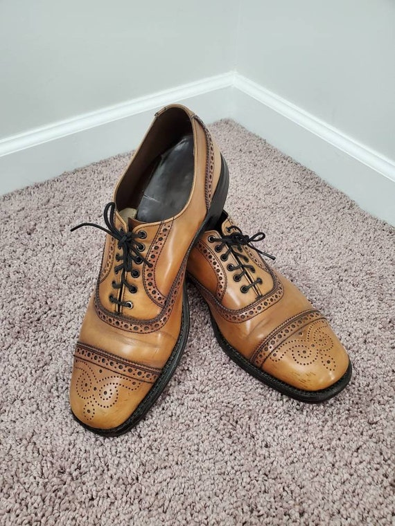 1970s shoes vintage 70s brown oxford wingtips