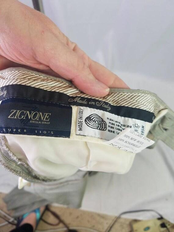 1990s pants Zignone plaid vintage 90s Italian woo… - image 10