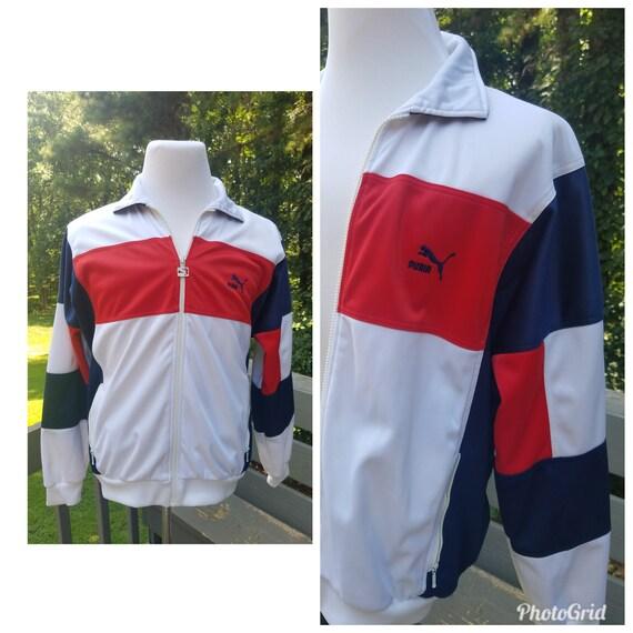90s Puma track jacket vintage color block tracksuit jacket