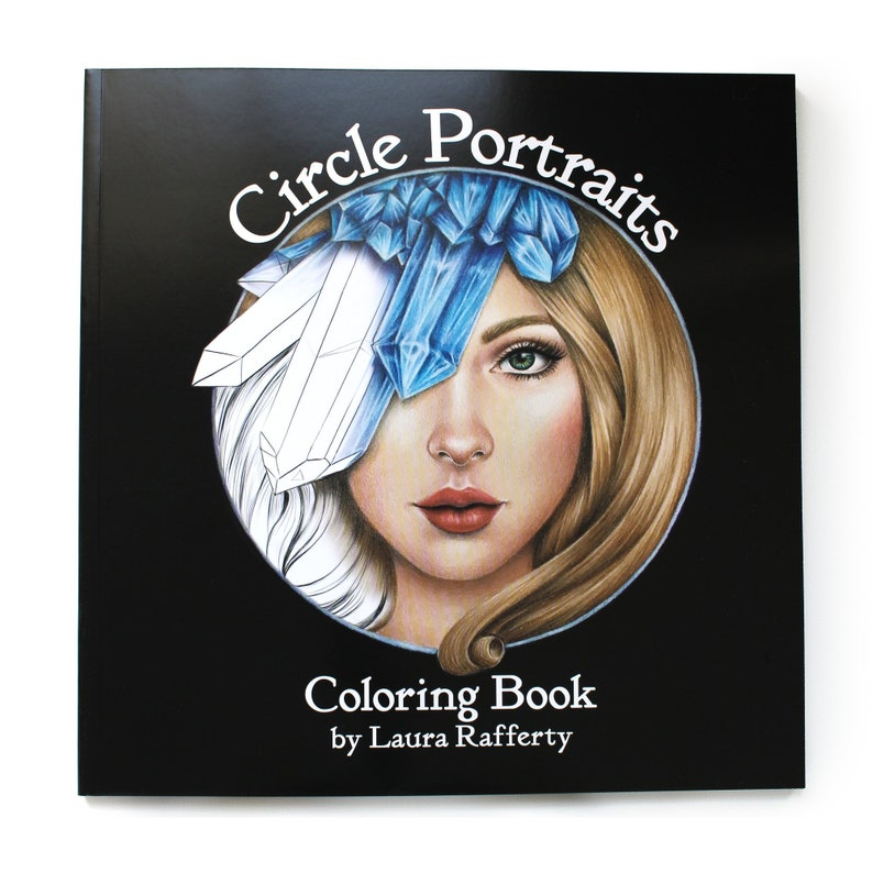 Circle Portraits Coloring Book  Signed First Edition  High image 0