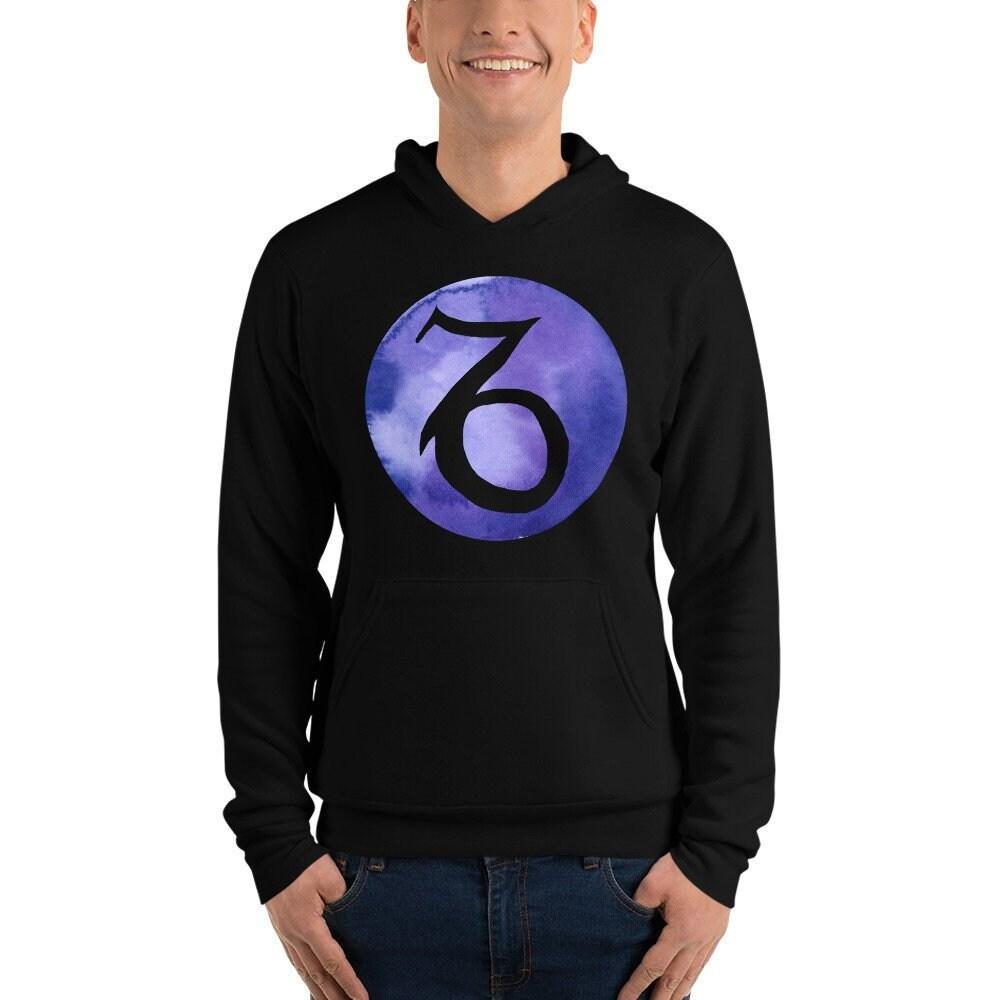 Symbole du Capricorne     Sweat à capuche   Capricorne Purple violet noir    sweat shirt 7e303b5b7b51