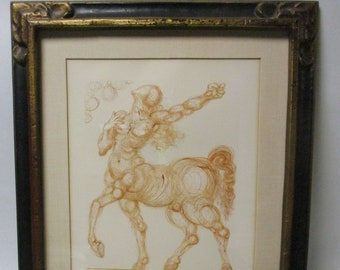 Salvador Dali Le Centaure (The Centaur) Numbered 139 Of 150 Dante Alighieri The Divine Comedy Series