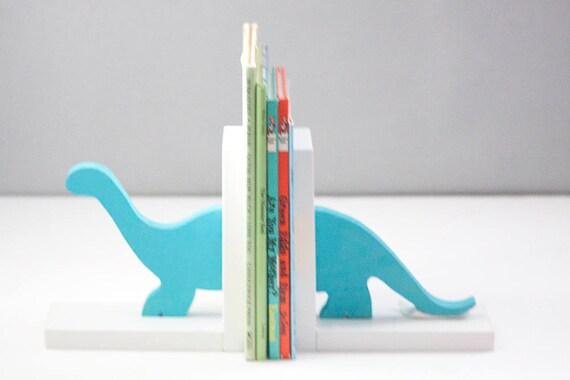 Dinosaurier Buchstützen Kinderzimmer Baby Brontosaurus Bücherstützen 100 Made In Usa 8 Anti Rutsch Scheiben Befestigt