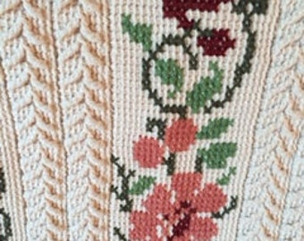 Vintage crocheted afghan