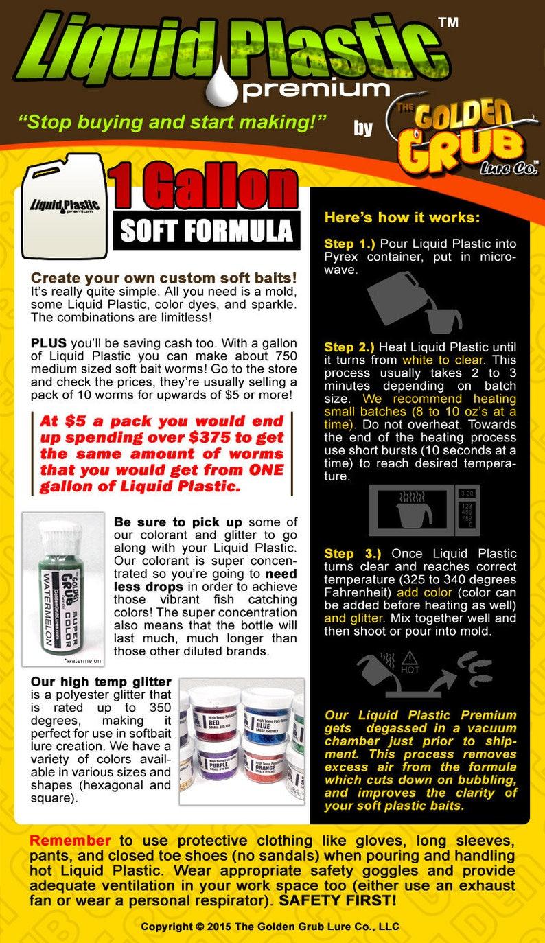 1 Gallon Premium SOFT LIQUID PLASTIC for making fishing worms bait plastisol