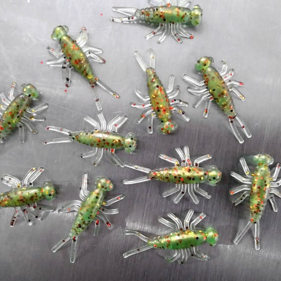 NEW 50//pack ELECTRIC GRASSHOPPER Buggeroo Fishing Soft Plastic Bait Bug Cricket