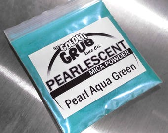 1 oz. PEARL AQUA GREEN Pearlescent Mica Powder Fishing Lure Plastisol