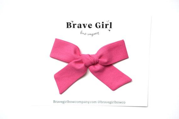 Headband for Girls Oversized Pink Bow Nylon Headband Oversized Bow Bubblegum Pink Pinwheel Bow Handtied Bow Alligator Clip