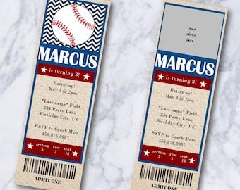 Tickets Design Template Baseball Tournament Vector Stock ...  |Blank Baseball Game Ticket