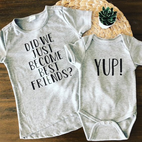 Best friends shirt Twin matching bodysuit Yep Step Brothers Baby kids boy girl Did we just become best friends funny movie quote