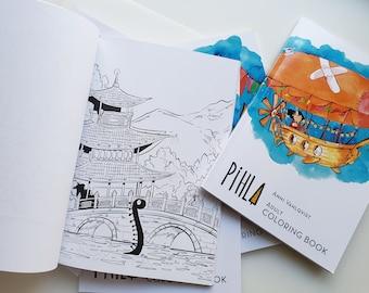 Pihla - Adult Coloring Book: annioutlife Design