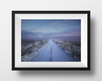 Winter Chill Finland, Ocean Wall Print, Scandinavian poster, Sea Art Print, Photo Wall A4