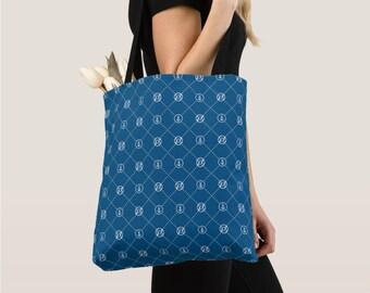 Outlife Printed Tote Bag, Medium size, sailor tote, design tote bag, luxury shopping bag, bag pendant, monogram
