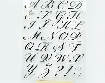 Planner Journal Serif Fonts Clear Transparent Stamp Musical note Alphabet and Number Stamp Lower Case Rubber Stamp Upper Case