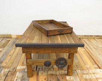 Sgabello in legno stile industriale etsy